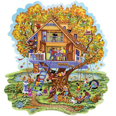 Home Tree Home 300 Large Piece Shaped Jigsaw Puzzle