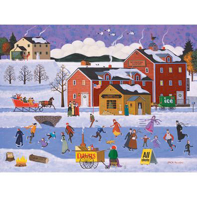 Sunday At Falmouth Skating Club 500 Piece Jigsaw Puzzle