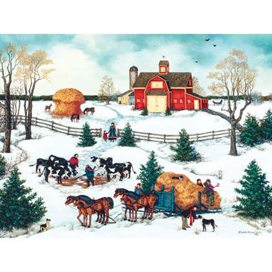Four Horse Hitch 300 Large Piece Jigsaw Puzzle