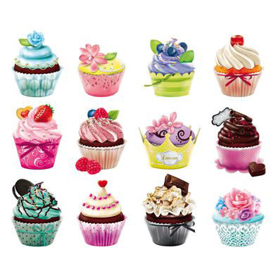 Mini Cupcake 500 Piece Shaped Jigsaw Puzzles