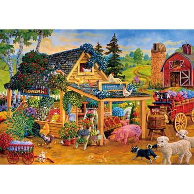 Barnyard Farmers Market 300 Large Piece Jigsaw Puzzle