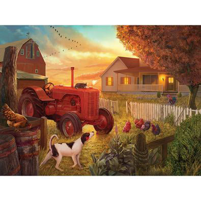 Dusk At The Farm 500 Piece Jigsaw Puzzle