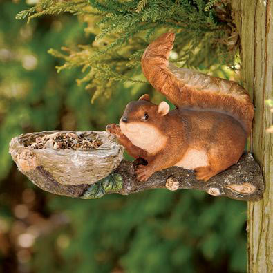 Mischievous Squirrel Tree Hanger