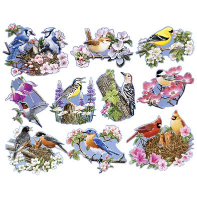 Birds & Blossoms 300 Large Piece Shaped Mini Jigsaw Puzzles