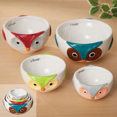 Ceramic Nesting Owl Measuring Cups