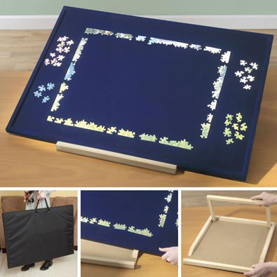 Medium Puzzle Assembly Board Kit With Carrying Case