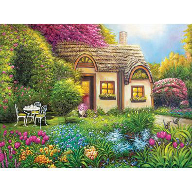 Garden Cottage 1000 Piece Jigsaw Puzzle