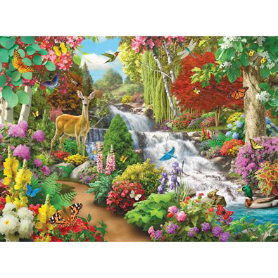 By The Falls II 500 Piece Jigsaw Puzzle