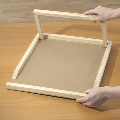 Wooden Easel For Puzzle Assembly Board