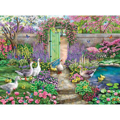 Garden Visitors 1000 Piece Jigsaw Puzzle