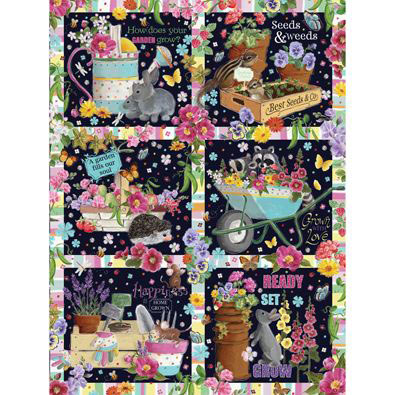 Garden Quilt 300 Large Piece Jigsaw Puzzle