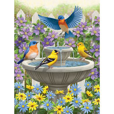 Fountain Festivities 500 Piece Jigsaw Puzzle