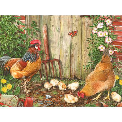 Garden Family 300 Large Piece Jigsaw Puzzle