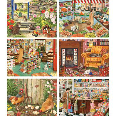 Set of 6: Tracy Hall 300 Large Piece Jigsaw Puzzles