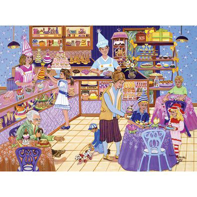 Ice Cream Parlor Fun 300 Large Piece Jigsaw Puzzle
