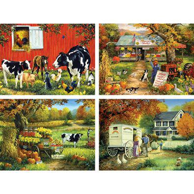 Set of 4: Linda Picken 500 Piece Jigsaw Puzzles