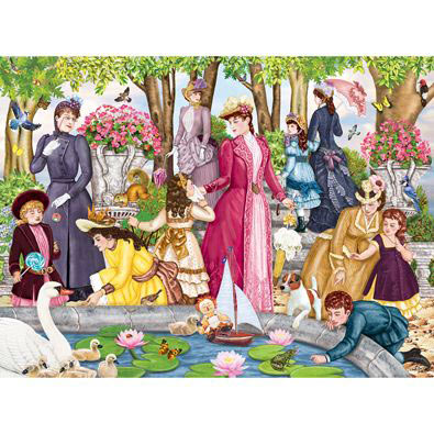 Aunt Josephine Visits The Park 300 Large Piece Jigsaw Puzzle