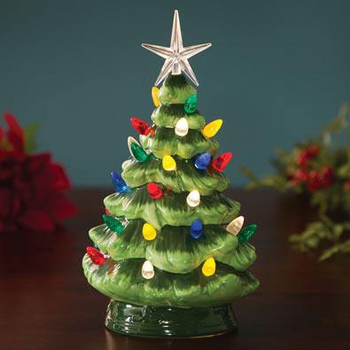Ceramic LED Lighted Christmas Tree