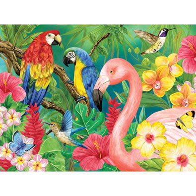 Tropical Birds 300 Large Piece Jigsaw Puzzle
