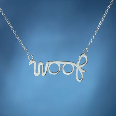 Sterling Silver Woof Necklace