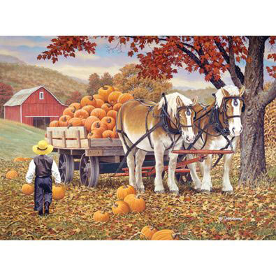 Pumpkin Patch 1000 Piece Jigsaw Puzzle