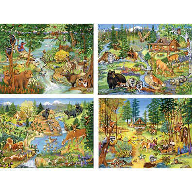 Set of 4: Sandy Rusinko 500 Piece Jigsaw Puzzles