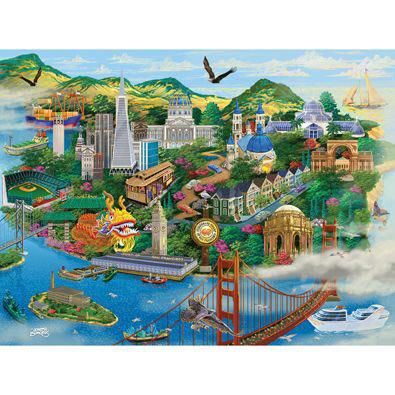 San Francisco 1000 Piece Jigsaw Puzzle