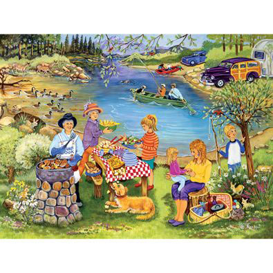 Barbeque At The Lake 300 Large Piece Jigsaw Puzzle