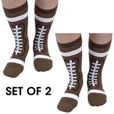 Set of 2 pairs: Football Socks