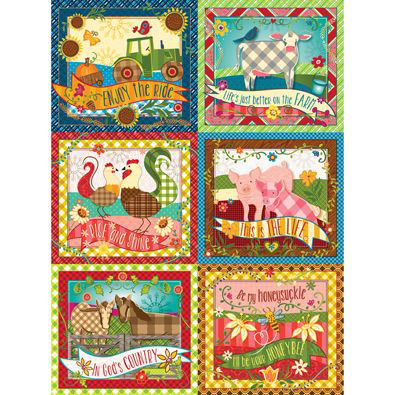 Farm Quilt 1000 Piece Jigsaw Puzzle Bits And Pieces