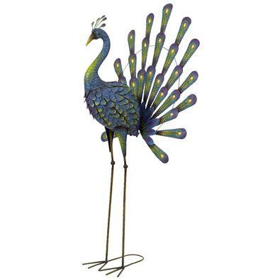 Metal Peacock Yard Art