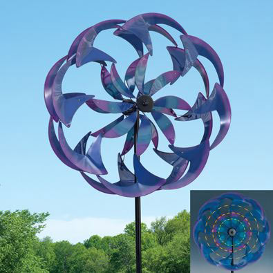Wind-Powered LED Spinner