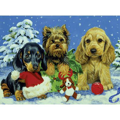 Snow Puppies 300 Large Piece Jigsaw Puzzle