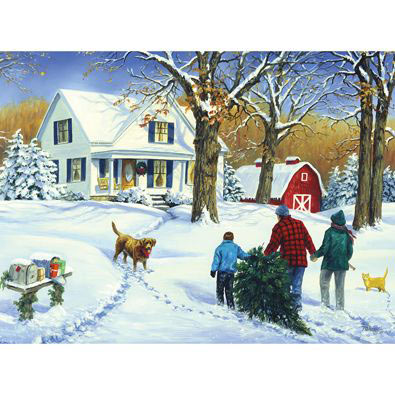 Family Christmas With Molly 300 Large Piece Jigsaw Puzzle