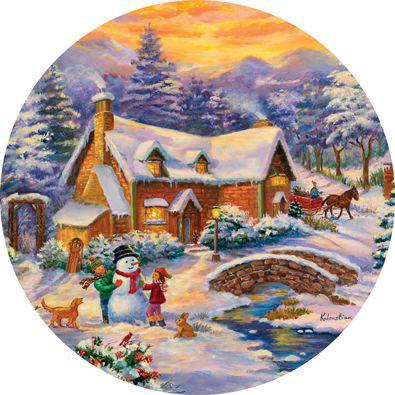 Winter Wonderland 300 Large Piece Round Jigsaw Puzzle