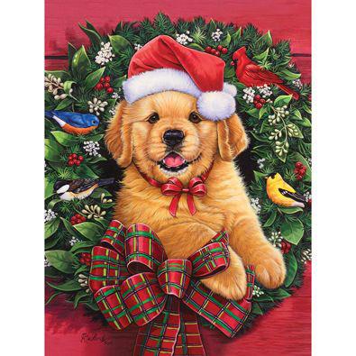 Christmas Puppy 1000 Piece Jigsaw Puzzle