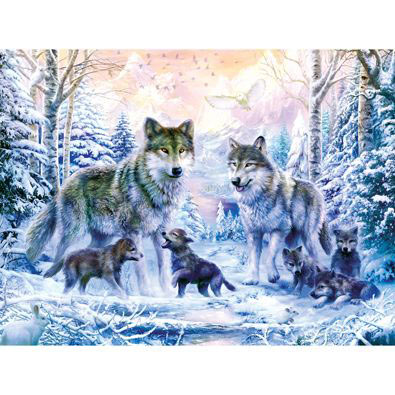 Winter Wolf Family 300 Large Piece Jigsaw Puzzle
