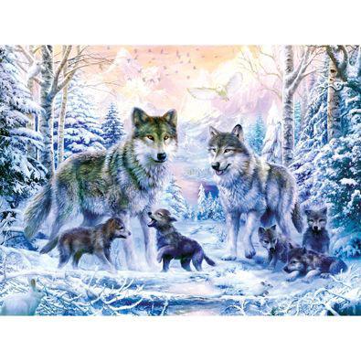 Winter Wolf Family 500 Piece Jigsaw Puzzle
