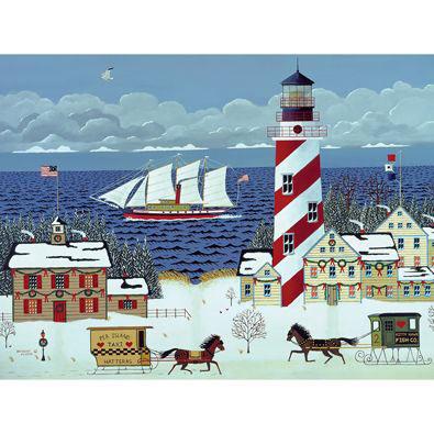 Christmas In The Carolinas 500 Piece Jigsaw Puzzle