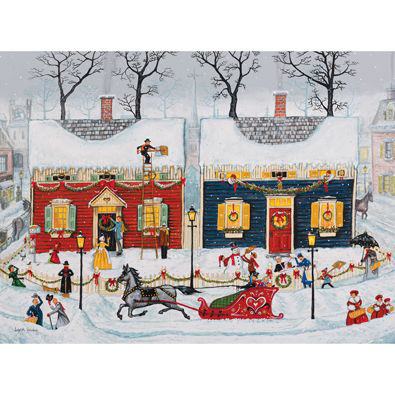 Christmas Is Just Around The Corner 300 Large Piece Jigsaw Puzzle