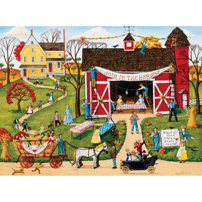 Harvest Moon Dinner Dance 300 Large Piece Jigsaw Puzzle