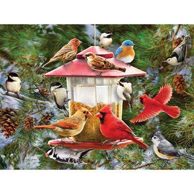 Winter Pines 300 Large Piece Jigsaw Puzzle
