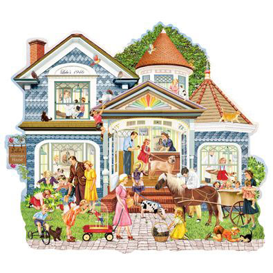 Lulu's Veterinary House 300 Large Piece Shaped Jigsaw Puzzle