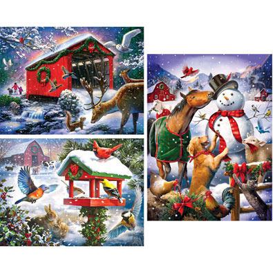 Set of 3: Larry Jones 300 Large Piece Jigsaw Puzzles