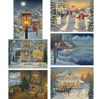 Set of 6: Sam Timm 1000 Piece Jigsaw Puzzles