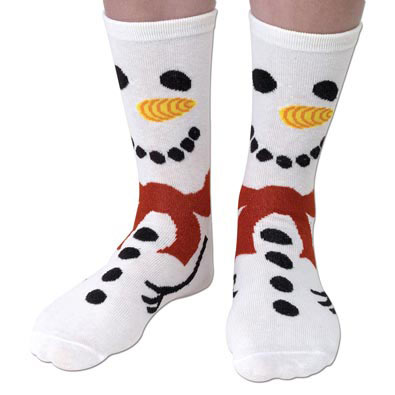 Snowman Festive Holiday Socks