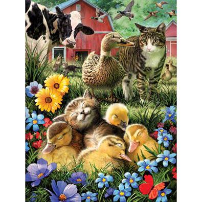 A Little Cat Nap 300 Large Piece Jigsaw Puzzle