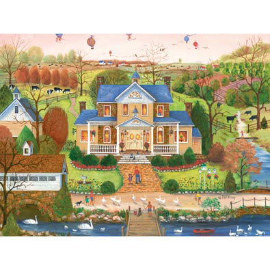 Goose Herders 300 Large Piece Jigsaw Puzzle