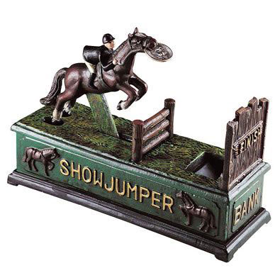 Show Jumper Cast-Iron Bank