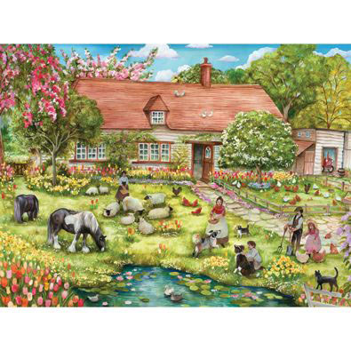 Spring Grazing 300 Large Piece Jigsaw Puzzle
